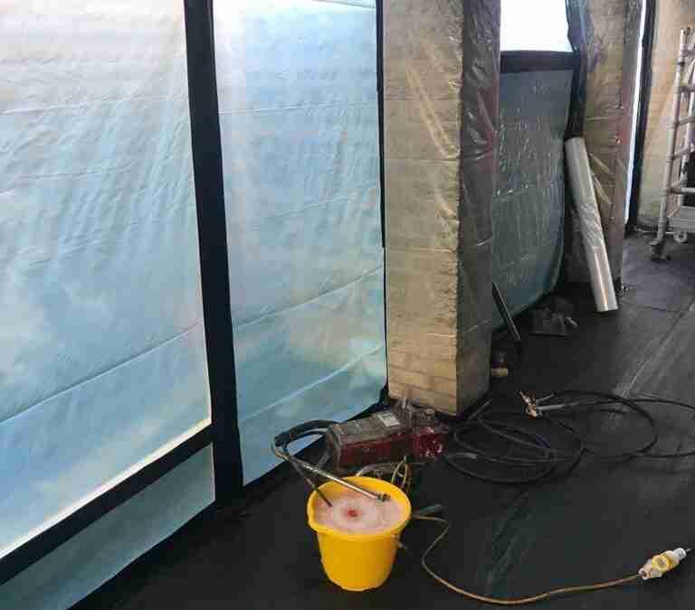 asbestos removal job